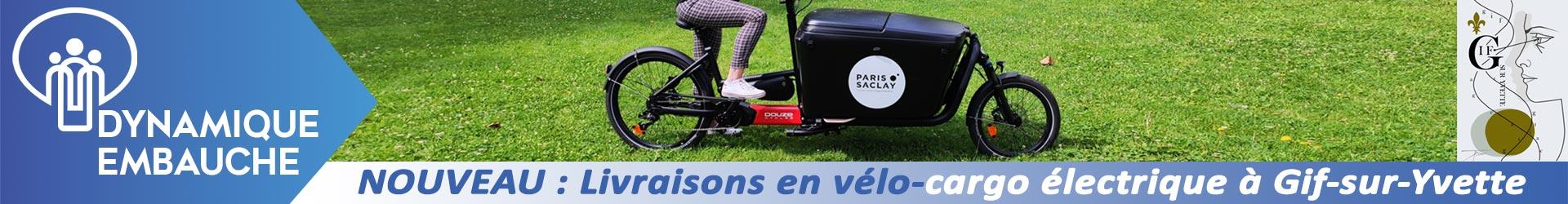 Nouveau : livraisons en vélo-cargo électrique à Gif-sur-Yvette. Cliquez ici pour plus d'informations.